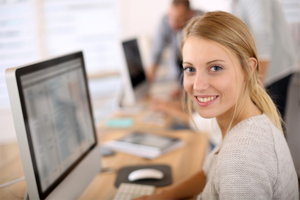 Portrait of beautiful office worker